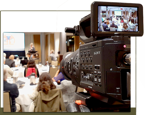 Camera Recording a Corporate Event - Video Production Abbotsford by Lumera Productions Inc.